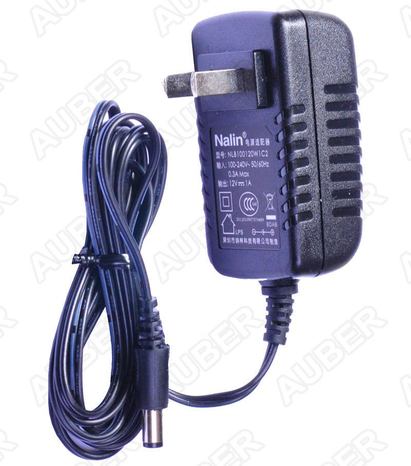 AC to DC Power Adapter, 12V, 1A