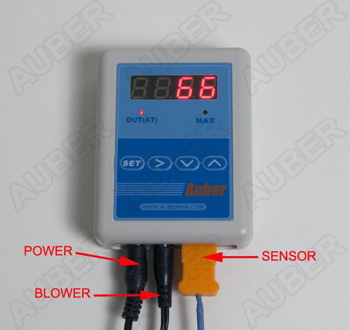Temperature Controller for Charcoal Barrel Smoker 20 CFM