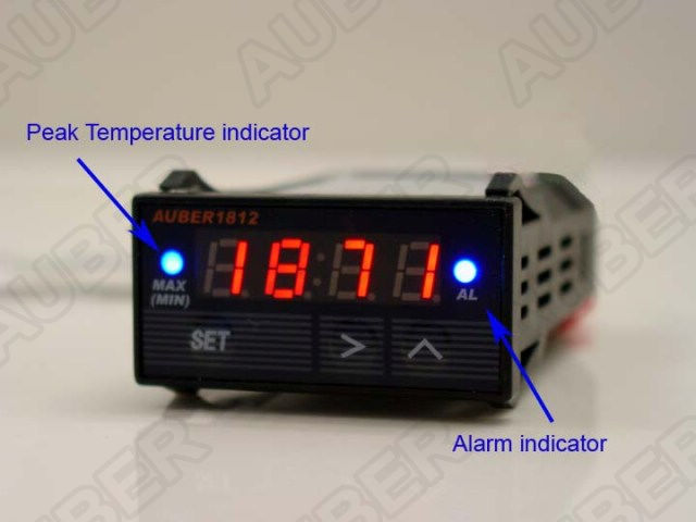 Digital Auto Gauge with Oil / Water Temperature Sensor