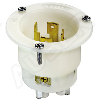 Leviton 125/250V 30A NEMA L14-30P Locking Flanged Inlet