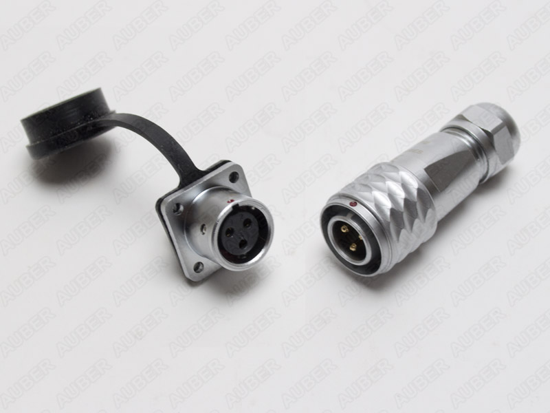Water-Resistant 3-Pin Connector for Cable or RTD Sensor
