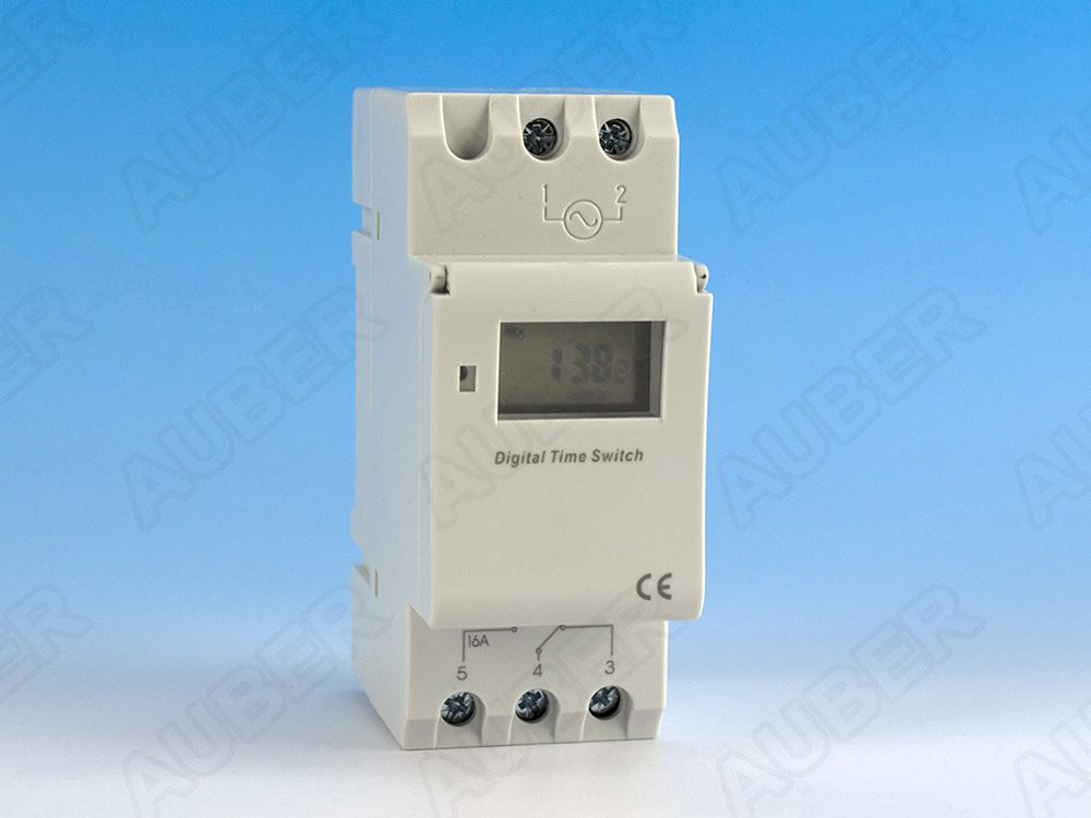 DIN Rail Mounted Programmable Timer Switch, 110V AC