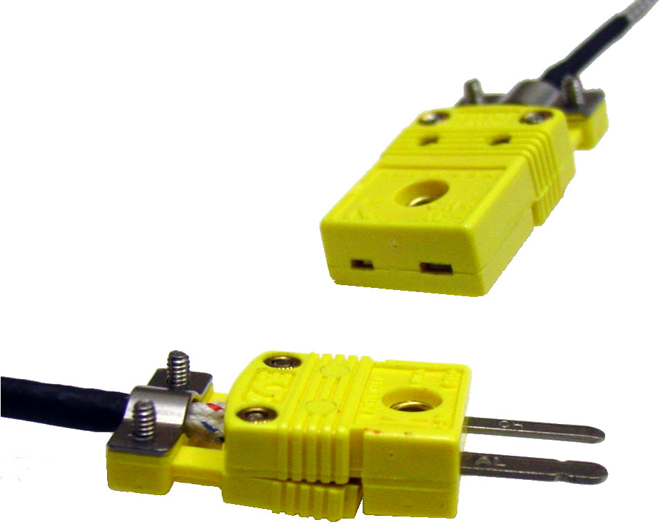 Inline Mini Connector Pair for K type Thermocouple