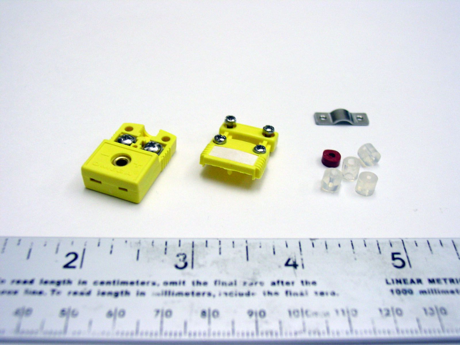 Female inline mini connector for K thermocouple