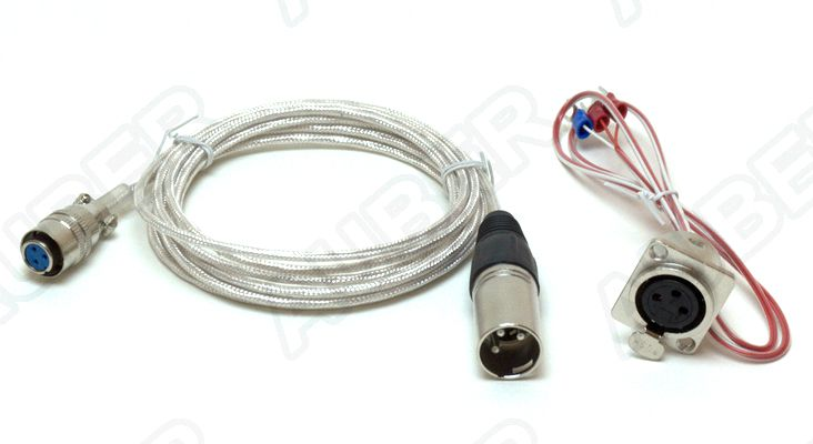 Braided Cable For Pt100 L Series Probe With Xlrcon