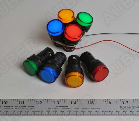 LED Indicator, 22 mm, 120/240V