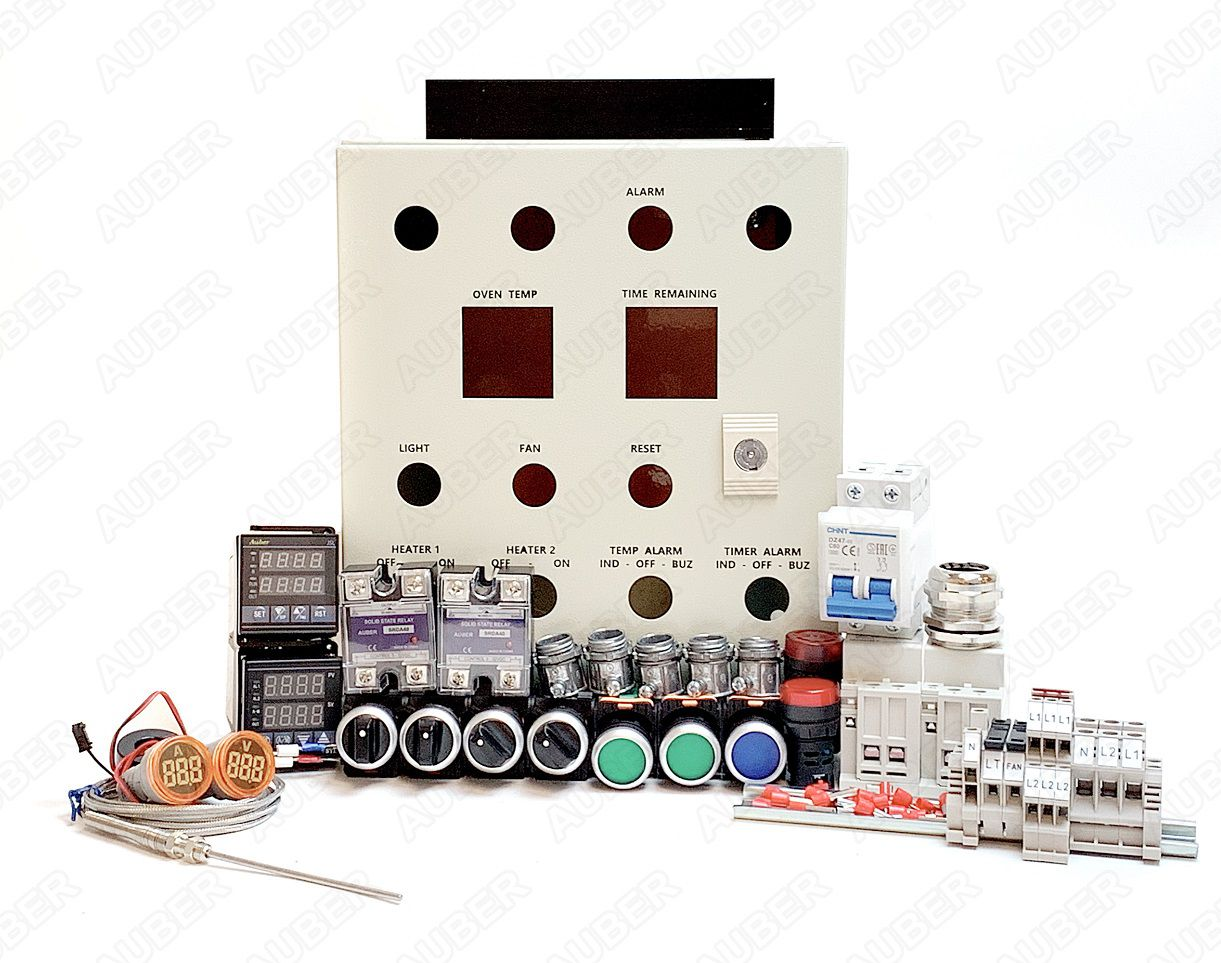Powder Coating Oven Controller Kit ft. Light&Fan (240V 50A ... on