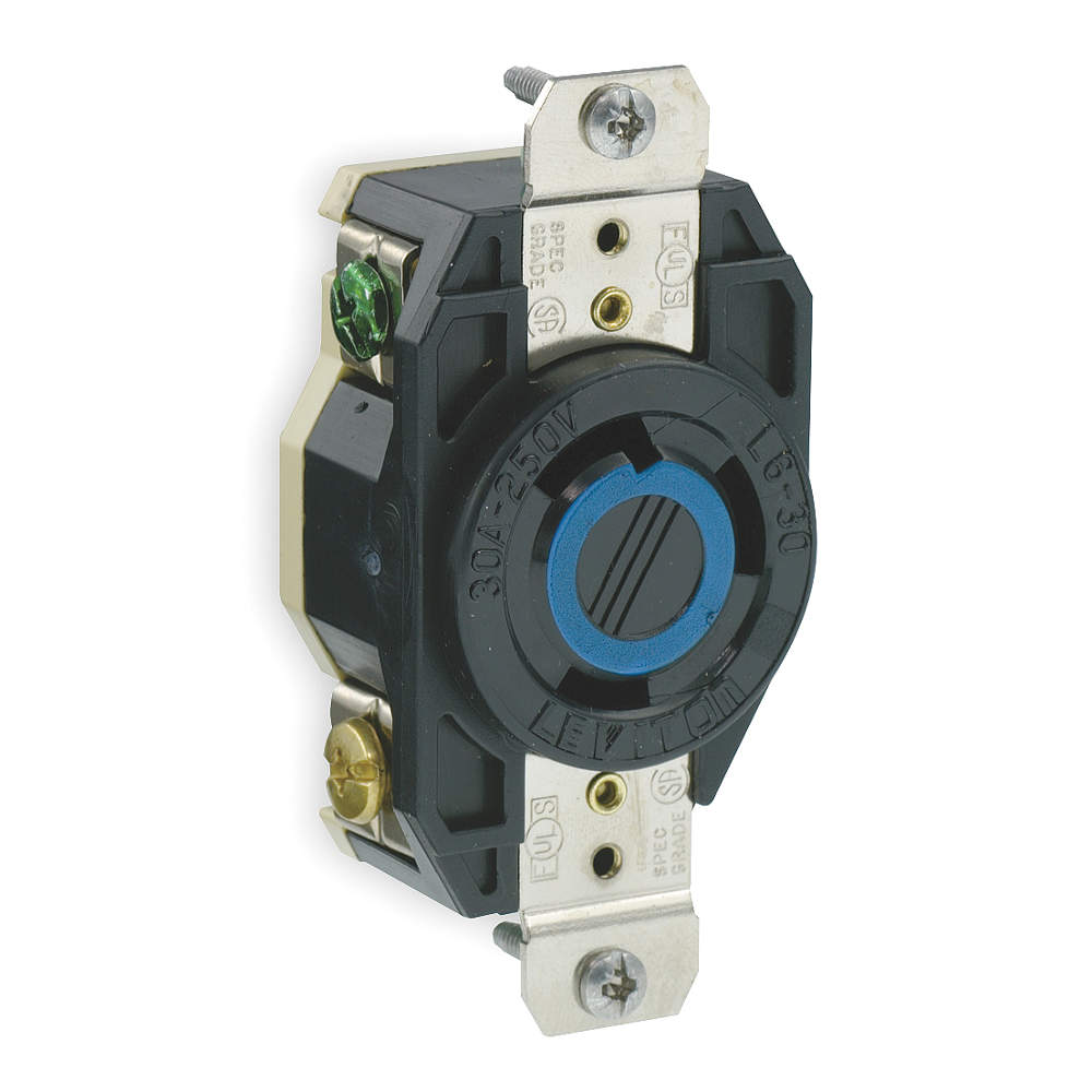 Leviton 240v 30a Nema L6 30r Socket For Heater L6 30r