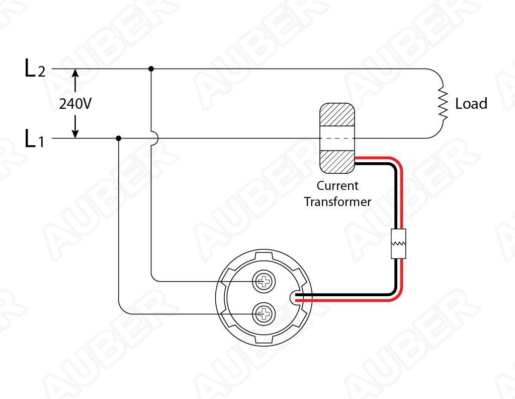 ammeter wiring (us 240v):