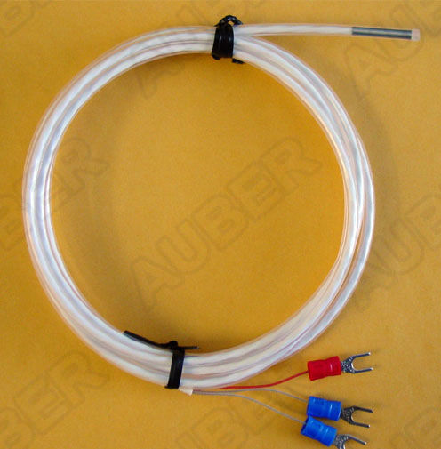 Fluoropolymer coated probe for corrosive solutions