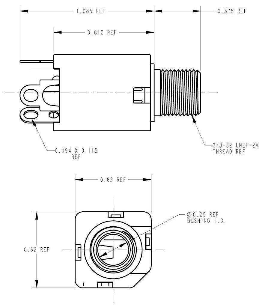 1  4 6 5mm mono headphone jack for pt1000 rtd  pt1kcon