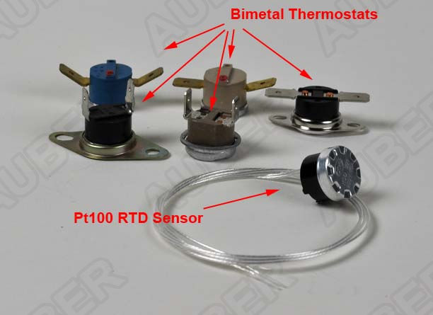 Thermostat style rtd sensor rtdstat auberins for 100 ohm pt rtd table