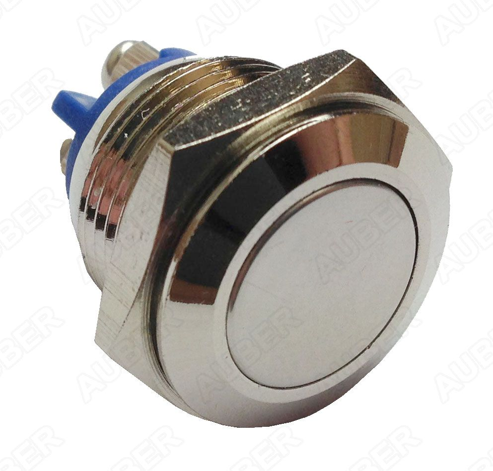 Metal Push Button Switch, NO, Momentary, 16mm