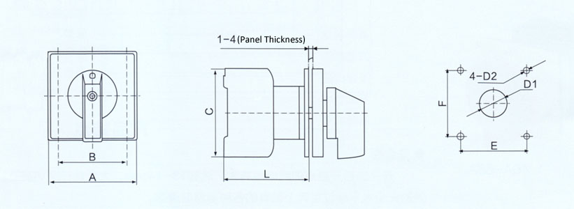 high amperage main switch 63a 440vac  swm-63
