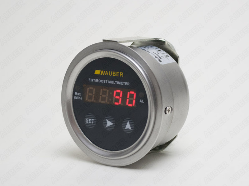 Digital Auto Gauge (Round) with Oil / Water Temperature Sensor