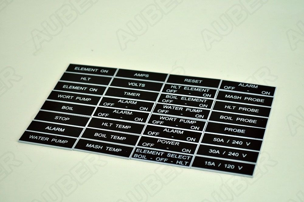 Tag Set For Beer Brewery Panel, 32 pc