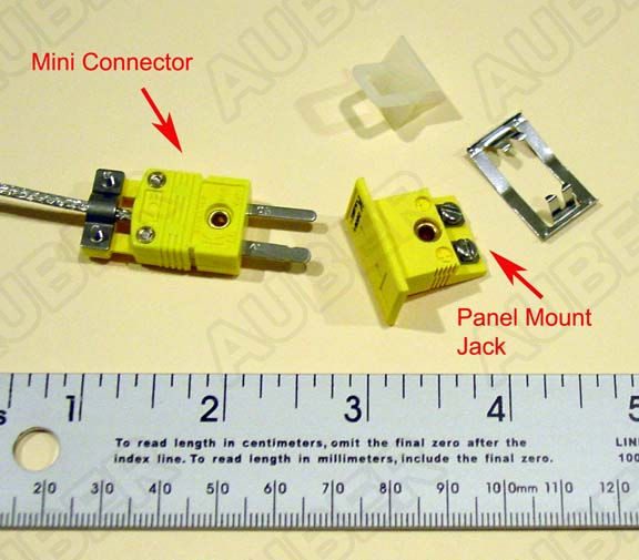 Panel mount connector for K thermocouple
