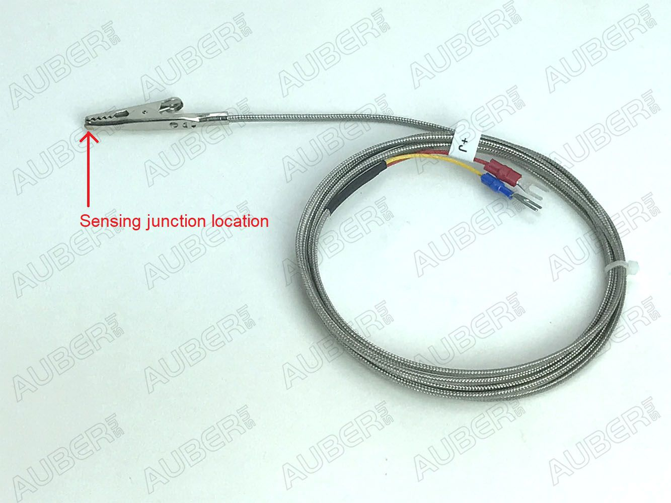 J Type Thermocouple w/ alligator clip tip, powder coating oven