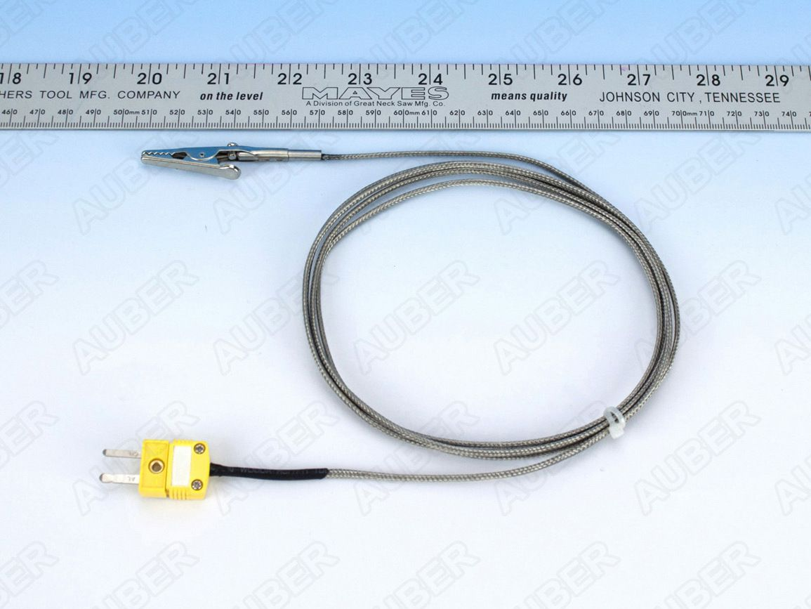 K Type Thermocouple w/ alligator clip, Smoker, High Precision