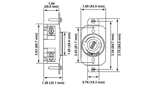 Nema L6 30r 30a 240v Twist Lock - Wiring Diagrams