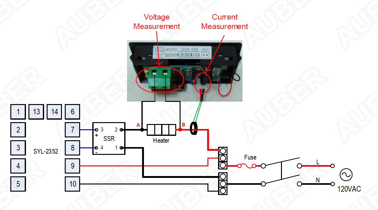2 In 1 Lcd Voltmeter Ammeter Gauge Dva 120 1750 Wiring Diagram With Ct 120v System