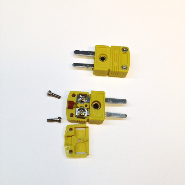 K Type Thermocouple Mini Connector, Male, Economical